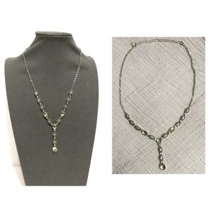 Vintage Victorian Style Silver Peridot Necklace